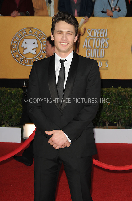 WWW.ACEPIXS.COM . . . . . ....January 30 2011, Los Angeles....James Franco arriving at the 17th Annual Screen Actors Guild Awards held at The Shrine Auditorium on January 30, 2011 in Los Angeles, CA....Please byline: PETER WEST - ACEPIXS.COM....Ace Pictures, Inc:  ..(212) 243-8787 or (646) 679 0430..e-mail: picturedesk@acepixs.com..web: http://www.acepixs.com