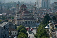 ALBANIA, Korça, orthodox cathedral, built 1992-95 / ALBANIEN, Korca, orthodoxe Kathedrale