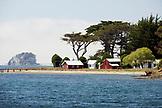 USA, California, farm by Hog Island, Tomales Bay