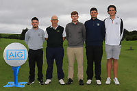 The Sligo Team for the Final of the Barton Shield in the AIG Cups & Shields Connacht Finals 2019 in Westport Golf Club, Westport, Co. Mayo on Saturday 10th August 2019.<br /> <br /> Thomas Finnegan, Serryth Heavey (Team Captain), Ruairi O'Connor, TJ Ford and Daniel Ford.<br /> <br /> Picture:  Thos Caffrey / www.golffile.ie<br /> <br /> All photos usage must carry mandatory copyright credit (© Golffile | Thos Caffrey)