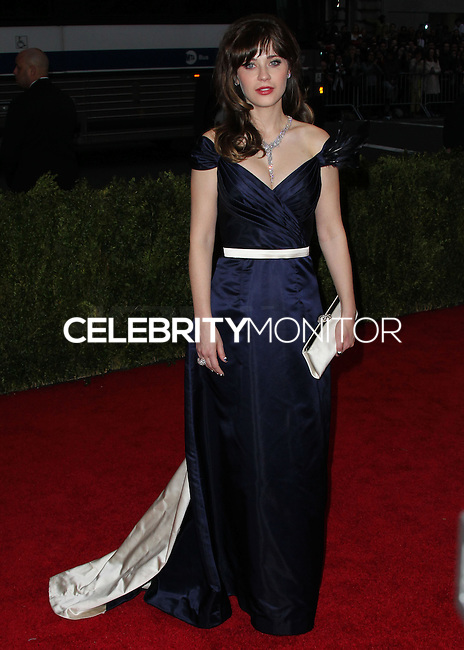"""NEW YORK CITY, NY, USA - MAY 05: Zooey Deschanel at the """"Charles James: Beyond Fashion"""" Costume Institute Gala held at the Metropolitan Museum of Art on May 5, 2014 in New York City, New York, United States. (Photo by Xavier Collin/Celebrity Monitor)"""