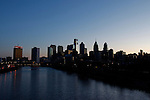 The Philadelphia Skyline at dawn on January 18th 2012. (Photo By Brian Garfinkel)