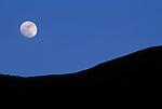 Moon rise over the Great Rift Valley Escarpment.Kakombe Valley.Gombe National Park, Tanzania.