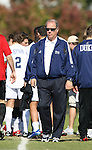 04 November 2007: Duke head coach John Rennie. The Alabama A&M University Bulldogs defeated the Duke University Blue Devils 4-3 at Koskinen Stadium in Durham, North Carolina in an NCAA Division I Men's Soccer game.