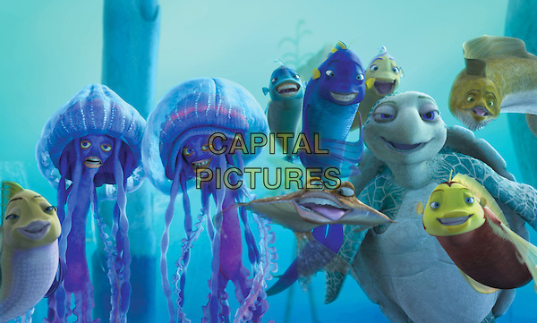 Ernie (ZIGGY MARLEY, left) and Bernie (DOUG E. DOUG).in Shark Tale.*Editorial Use Only*.www.capitalpictures.com.sales@capitalpictures.com.Supplied by Capital Pictures.
