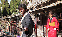 Blade of the Immortal (2017) <br /> (Mugen no junin)<br /> Takuya Kimura and Hana Sugisaki  <br /> *Filmstill - Editorial Use Only*<br /> CAP/KFS<br /> Image supplied by Capital Pictures
