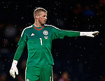 Kasper Schmeichel of Denmark during the Vauxhall International Challenge Match match at Hampden Park Stadium. Photo credit should read: Simon Bellis/Sportimage