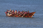 Canoe Journey, Paddle to Nisqually, 2016, Shxwha:y Village, canoes from Chilliwack, BC, First Nations,  arriving in Olympia, Washington, 7-30-2016, Salish Sea, Puget Sound, Washington State, USA,
