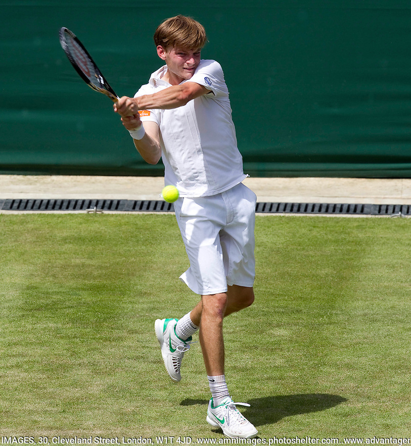 DAVID GOFFIN..Tennis - Grand Slam - The Championships Wimbledon - AELTC - The All England Club - London - TUE June 26th 2012. .© AMN Images, 30, Cleveland Street, London, W1T 4JD.Tel - +44 20 7907 6387.mfrey@advantagemedianet.com.www.amnimages.photoshelter.com.www.advantagemedianet.com.www.tennishead.net