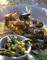 """Europe/France/Normandie/Basse-Normandie/14/Calvados/Honfleur: Grosse sole sur l'arête au tabac de cuisine - Recette de Yannick Bernouin chef du """"Manoir du Butin"""""""