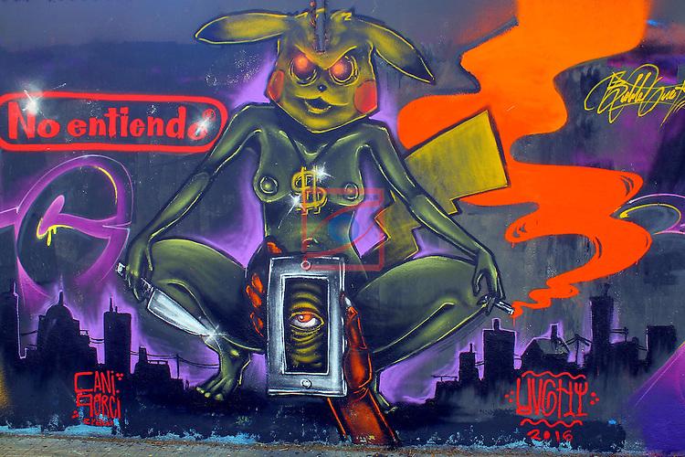 Street Art-Graffittis.<br /> Carrer de Venezuela.<br /> Barcelona-Poblenou (Sant Marti).