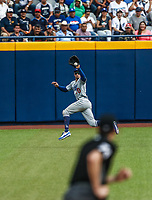 Tim Locastro.<br /> Acciones del partido de beisbol, Dodgers de Los Angeles contra Padres de San Diego, tercer juego de la Serie en Mexico de las Ligas Mayores del Beisbol, realizado en el estadio de los Sultanes de Monterrey, Mexico el domingo 6 de Mayo 2018.<br /> (Photo: Luis Gutierrez)