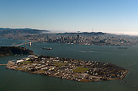 aerial photograph of Treasure Island, San Francisco