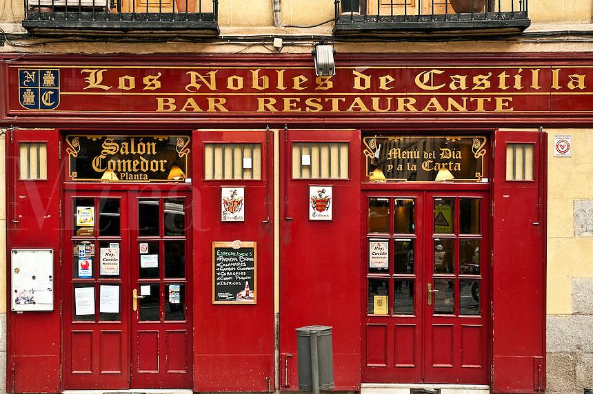 Los Nobles de Castilla bar and restaurant, Madrid, Spain.