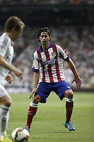 Tiago of Atletico de Madrid during La Liga match between Real Madrid and Atletico de Madrid at Santiago Bernabeu stadium in Madrid, Spain. September 13, 2014. (ALTERPHOTOS/Caro Marin)