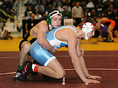 Zeke Stambovsky and Rob Recore wrestle at the 171 weight class during the NY State Wrestling Championships at Blue Cross Arena on March 8, 2008 in Rochester, New York.  (Copyright Mike Janes Photography)