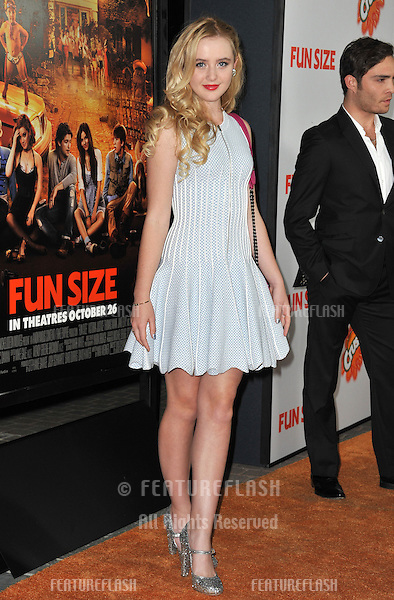 "Katherine Newton at the Los Angeles premiere of ""Fun Size"" at the Paramount Theatre, Hollywood..October 25, 2012  Los Angeles, CA.Picture: Paul Smith / Featureflash"