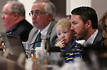 Nevada Assemblyman David Bobzien, D-Reno, sits with his son Finnegan, 4, during a committee hearing at the Legislative Building in Carson City, Nev., on Monday, March 11, 2013..Photo by Cathleen Allison