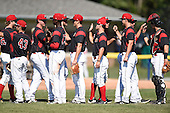 Batavia Muckdogs  during the first game of a doubleheader against the Auburn Doubledays on September 4, 2016 at Dwyer Stadium in Batavia, New York.  Batavia defeated Auburn 1-0 in a continuation of a game started on August 13. (Mike Janes/Four Seam Images)