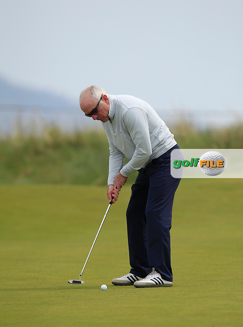 playing with Jack Hume (Naas) on the 7th green during the Flogas Irish Amateur Open Championship Am-Am at Royal Dublin on Monday 9th May 2016.<br /> Picture:  Thos Caffrey / www.golffile.ie
