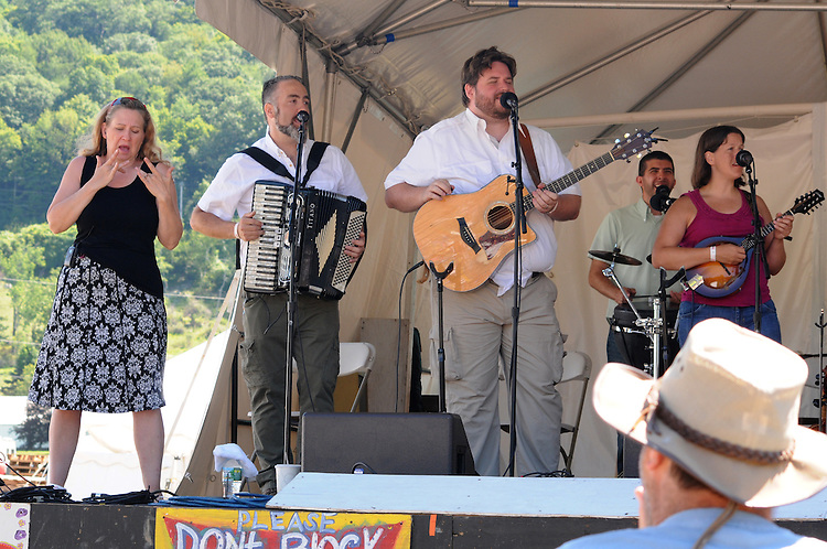"Pesky J Nixon Band, performing during the 'Gospel Wake Up Call"" Show, at the  Main Stage of the Falcon Ridge Folk Festival, held on Dodd's Farm in Hillsdale, NY on Sunday, August 2, 2015. Photo by Jim Peppler. Copyright Jim Peppler 2015."