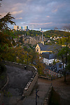 View of Luxembourg city and St Jean du Grund church.