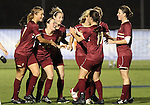 03 November 2010: Teammates congratulate Boston College's Maddie Payne (3) on her goal. The Boston College Eagles defeated the Virginia Cavaliers 1-0 in an ACC Women's Soccer Tournament quarterfinal game at Koka Booth Stadium at WakeMed Soccer Park in Cary, NC.