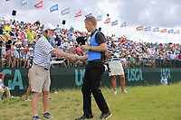Brandon Stone (RSA) finishes on the 18th green during Saturday's Round 3 of the 117th U.S. Open Championship 2017 held at Erin Hills, Erin, Wisconsin, USA. 17th June 2017.<br /> Picture: Eoin Clarke | Golffile<br /> <br /> <br /> All photos usage must carry mandatory copyright credit (&copy; Golffile | Eoin Clarke)