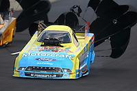 Jul. 19, 2014; Morrison, CO, USA; NHRA funny car driver Bob Tasca III during qualifying for the Mile High Nationals at Bandimere Speedway. Mandatory Credit: Mark J. Rebilas-