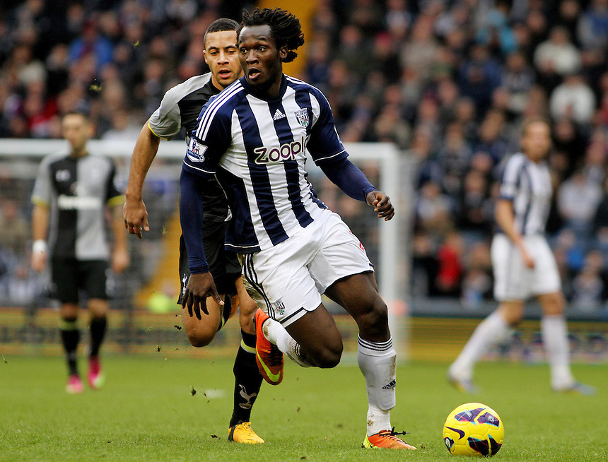 West Bromwich Albion's Romelu Lukaku in action during todays match ... - Credit - CameraSport - James Marsh - ..Football - Barclays Premiership - West Bromwich Albion v Tottenham Hotspur - Sunday 3rd February 2013 - The Hawthorns - West Bromwich..