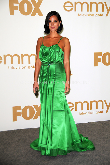 WWW.ACEPIXS.COM . . . . .  ....September 18 2011, LA....Olivia Munn in the press room of the 63rd Annual Primetime Emmy Awards held at Nokia Theatre L.A. on September 18, 2011 in Los Angeles, California....Please byline: PETER WEST - ACE PICTURES.... *** ***..Ace Pictures, Inc:  ..Philip Vaughan (212) 243-8787 or (646) 679 0430..e-mail: info@acepixs.com..web: http://www.acepixs.com