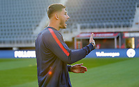 WASHINGTON D.C. - OCTOBER 11: Matt Miazga #3 of the United States during warm ups prior to their Nations League game versus Cuba at Audi Field, on October 11, 2019 in Washington D.C.