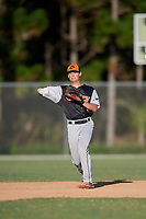 Zach Weston during the WWBA World Championship at the Roger Dean Complex on October 19, 2018 in Jupiter, Florida.  Zach Weston is a shortstop from Charlotte, North Carolina who attends Ardrey Kell High School and is committed to UNC-Charlotte.  (Mike Janes/Four Seam Images)