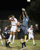 The Winthrop University Eagles beat the UNC Asheville Bulldogs 4-0 to clinch a spot in the Big South Championship tournament.  Zak Davis (23), Achille Obougou (7), Cole Schwietering (20)