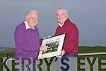 Jim O'Gorman and Pat Williams talk of Kerry team of times past on Saturday morning..... . ............................... ..........