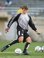 2 April 2005:   Robby Fulton of Earthquakes in warm-up before the game against Revolution at Spartan Stadium in San Jose, California.   Earthquakes and Revolutions tied at 2-2.  Credit: Michael Pimentel / ISI