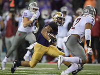 Myles Gaskin was pressed into extra action after Lavon Coleman's early injury.