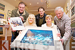 A painting 'Music of the Sea' worth 2,000, is being donated by Artist John Hurley to raise funds for MS Kerry Branch. Pictured were: Ted Cronin, John Hurley and Michael McNamara with Mary Horgan and Marie McNamara.
