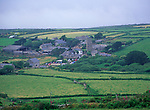 AF4WY5 Zennor nucleated village in its valley Cornwall England