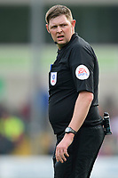 Referee Brett Huxtable<br /> <br /> Photographer Chris Vaughan/CameraSport<br /> <br /> The EFL Sky Bet League Two - Lincoln City v Macclesfield Town - Saturday 30th March 2019 - Sincil Bank - Lincoln<br /> <br /> World Copyright © 2019 CameraSport. All rights reserved. 43 Linden Ave. Countesthorpe. Leicester. England. LE8 5PG - Tel: +44 (0) 116 277 4147 - admin@camerasport.com - www.camerasport.com