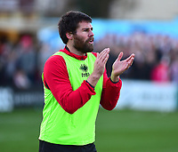 Lincoln City's Michael Bostwick during the pre-match warm-up<br /> <br /> Photographer Andrew Vaughan/CameraSport<br /> <br /> The EFL Sky Bet League Two - Lincoln City v Port Vale - Tuesday 1st January 2019 - Sincil Bank - Lincoln<br /> <br /> World Copyright © 2019 CameraSport. All rights reserved. 43 Linden Ave. Countesthorpe. Leicester. England. LE8 5PG - Tel: +44 (0) 116 277 4147 - admin@camerasport.com - www.camerasport.com