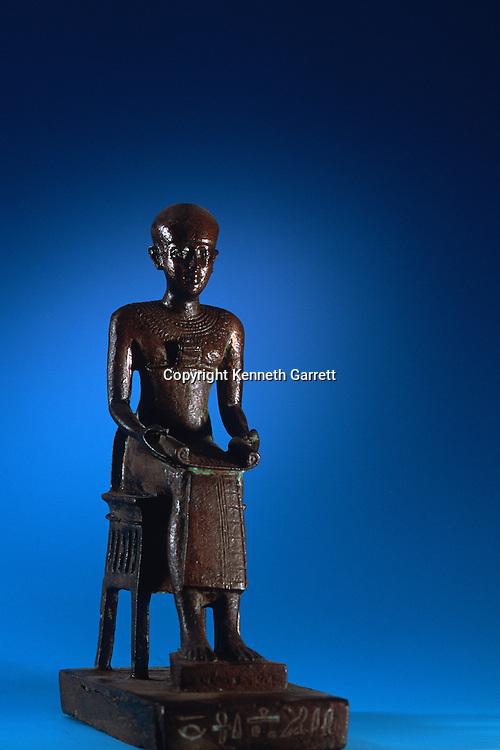 Statue of Imhotep, Tomb of Qar; Physician; Egypt