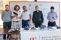 longest drive at the prize giving during the ProAm ahead of the Rocco Forte Sicilian Open played at Verdura Resort, Agrigento, Sicily, Italy 09/05/2018.<br /> Picture: Golffile | Phil Inglis<br /> <br /> <br /> All photo usage must carry mandatory copyright credit (&copy; Golffile | Phil Inglis)