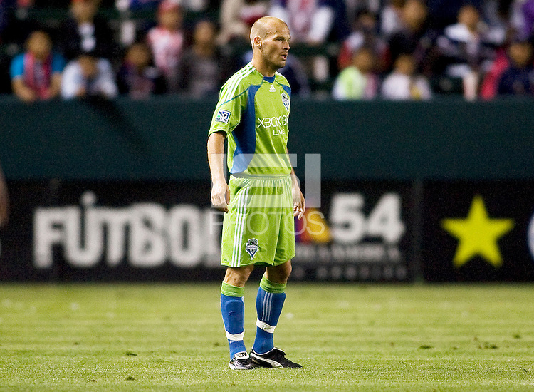 Seattle Sounders midfielder Freddie Ljundberg. Chivas USA defeated the Seattle Sounders 1-0 at Home Depot Center stadium in Carson, California on Saturday evening June 6, 2009.   .