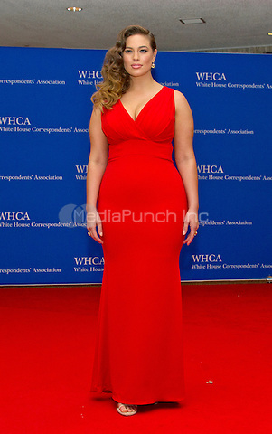 Model Ashley Graham arrives for the 2016 White House Correspondents Association Annual Dinner at the Washington Hilton Hotel on Saturday, April 30, 2016.<br /> Credit: Ron Sachs / CNP<br /> (RESTRICTION: NO New York or New Jersey Newspapers or newspapers within a 75 mile radius of New York City)/MediaPunch
