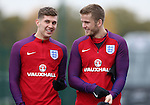 England's John Stones and Eric Dier during training at Tottenham Hotspur training centre, London. Picture date November 14th, 2016 Pic David Klein/Sportimage