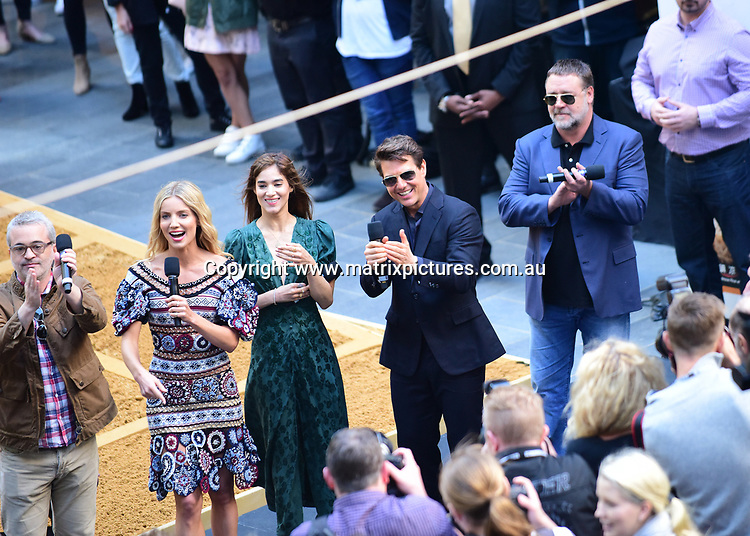23 May 2017 SYDNEY AUSTRALIA<br /> WWW.MATRIXPICTURES.COM.AU<br /> <br /> NON EXCLUSIVE PICTURES<br /> Tom Cruise at World Square promo for The Mummy with Russell Crowe and other cast members   on 23 May 2017<br /> <br /> *No internet without clearance*.<br /> <br /> MUST CALL PRIOR TO USE <br /> <br /> +61 2 9211-1088. <br /> <br /> Matrix Media Group.Note: All editorial images subject to the following: For editorial use only. Additional clearance required for commercial, wireless, internet or promotional use.Images may not be altered or modified. Matrix Media Group makes no representations or warranties regarding names, trademarks or logos appearing in the images.