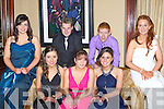 DEBS; having a great time at the Listowel Debs oN Saturday night in The Abbey Gate Hotel, Tralee, Front l-r: Joanne Barrett, Breda O'Connell, Danielle Barrett, Michelle Horgan and Michelle Enright (Listowel). Back l-r: Shane O'Sullivan (Listowel) and Michael McKenna (Lyreacrompane).............................. ..........