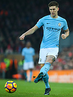 Manchester City's John Stones<br /> <br /> Photographer Alex Dodd/CameraSport<br /> <br /> The Premier League - Liverpool v Manchester City - Sunday 14th January 2018 - Anfield - Liverpool<br /> <br /> World Copyright &copy; 2018 CameraSport. All rights reserved. 43 Linden Ave. Countesthorpe. Leicester. England. LE8 5PG - Tel: +44 (0) 116 277 4147 - admin@camerasport.com - www.camerasport.com