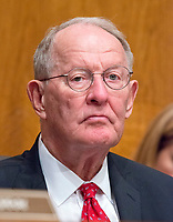 United States Senator Lamar Alexander (Republican of Tennessee) Chairman, US Senate Committee on Health, Education, Labor, and Pensions, listens as Patrick Pizzella testifies on his nomination as Deputy US Secretary of Labor; and Marvin Kaplan and William Emanuel testify on their nominations as Members of the National Labor Relations Board before the  committee on Capitol Hill in Washington, DC on Thursday, July 13, 2007<br /> Credit: Ron Sachs / CNP /MediaPunch